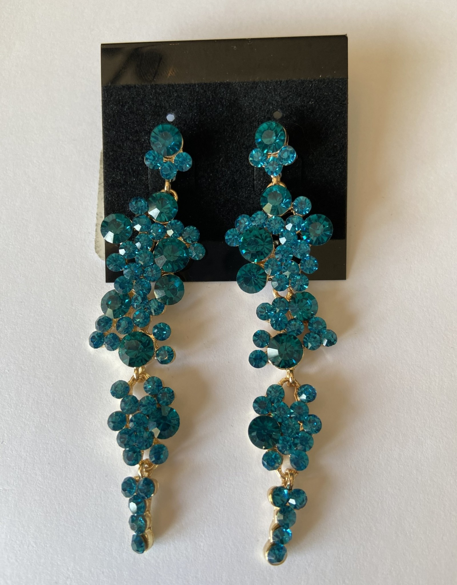 Teal crystal dangle