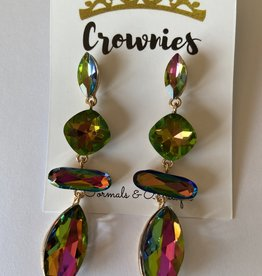 Pink and Green Jewel Earring