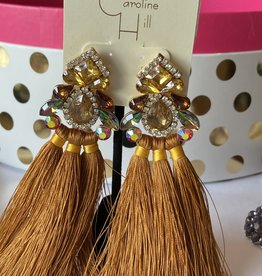 Embellished Earring with long thread Tassel