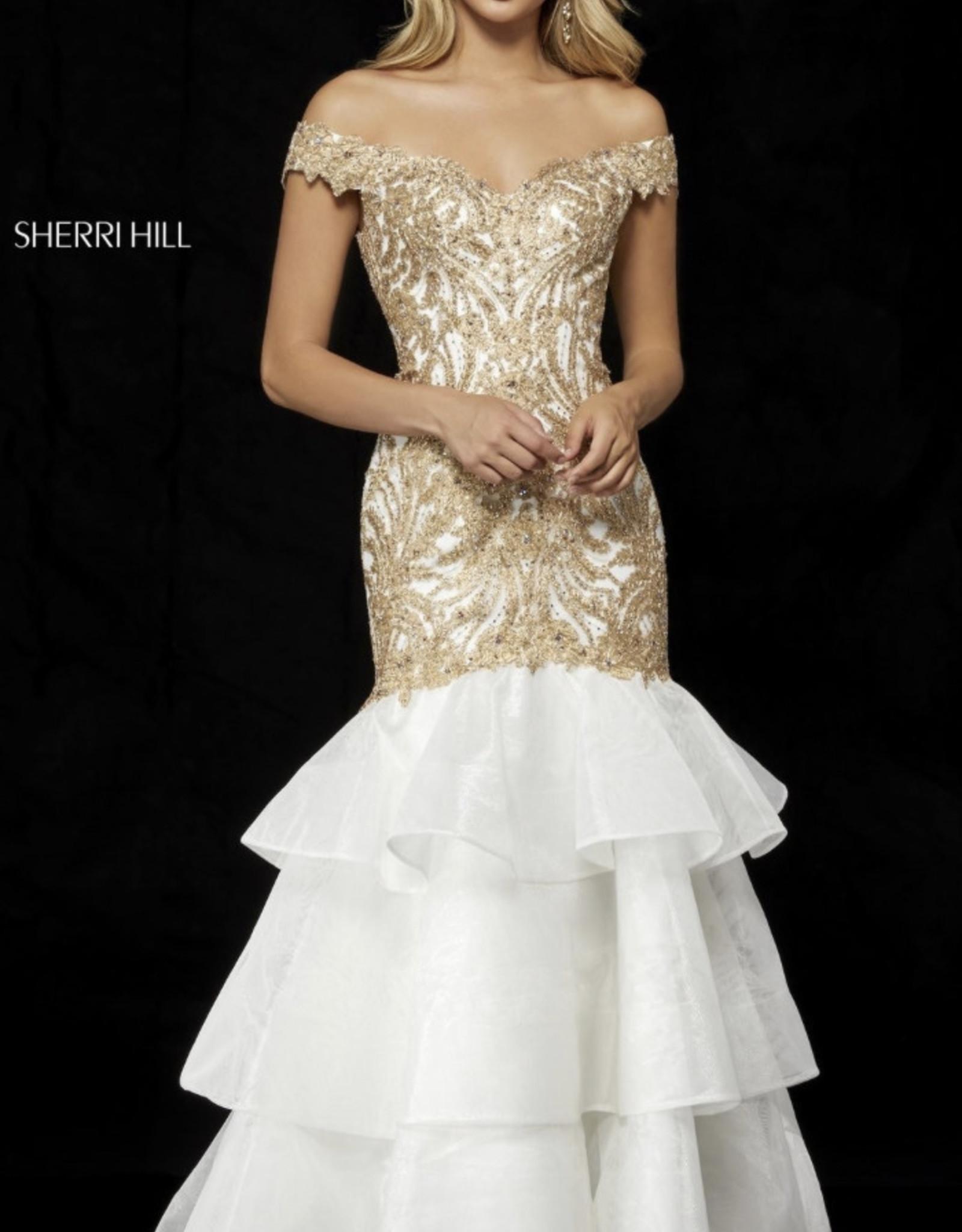 Sherri Hill Sherri Hill Ivory/Gold 4