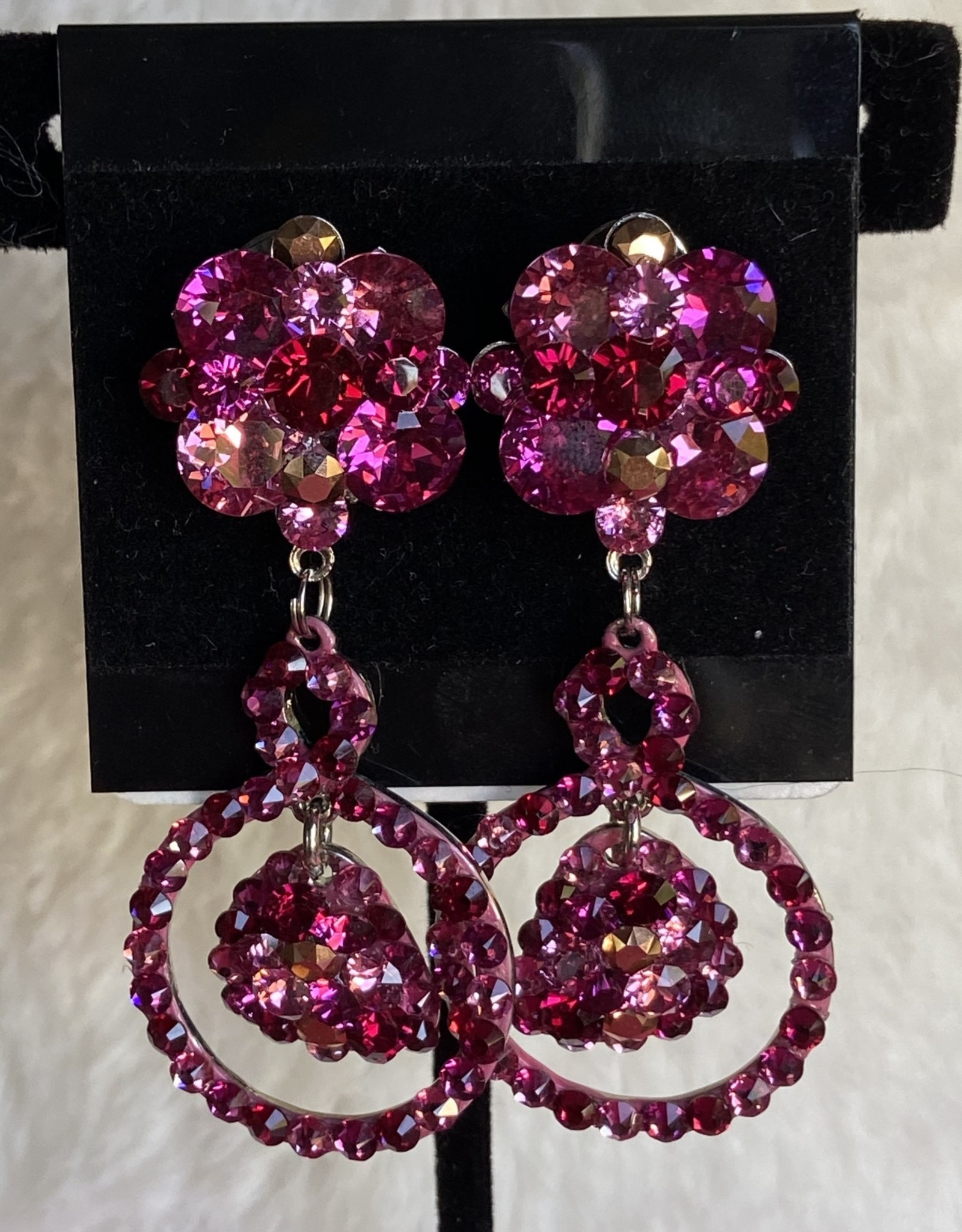 MHR Designs MHR Flowered Pink Mix Dangle