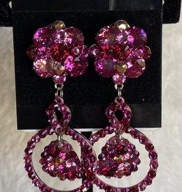 MHR Designs MHR Flowered Pink Mix Dangle