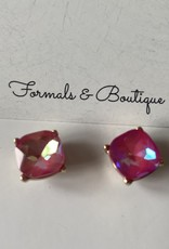 CRYSTAL STUDS HOT PINK