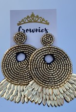 Golden Peacock Statement Earring
