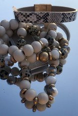Neutral Slither Stacked Bracelet