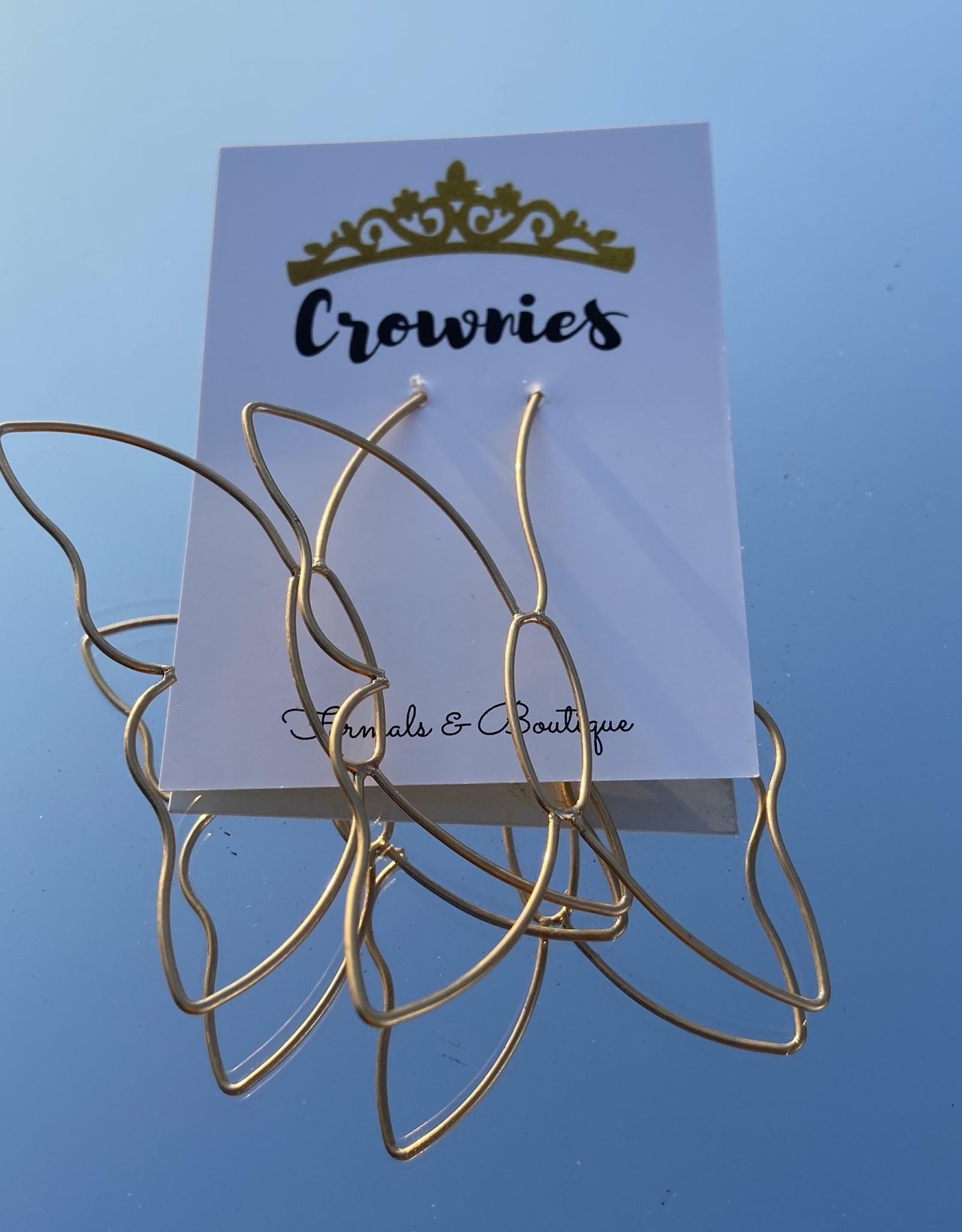 Wire Butterfly Earring (Gold)