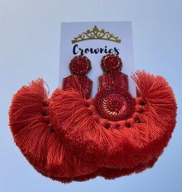 Salsa Red Earrings