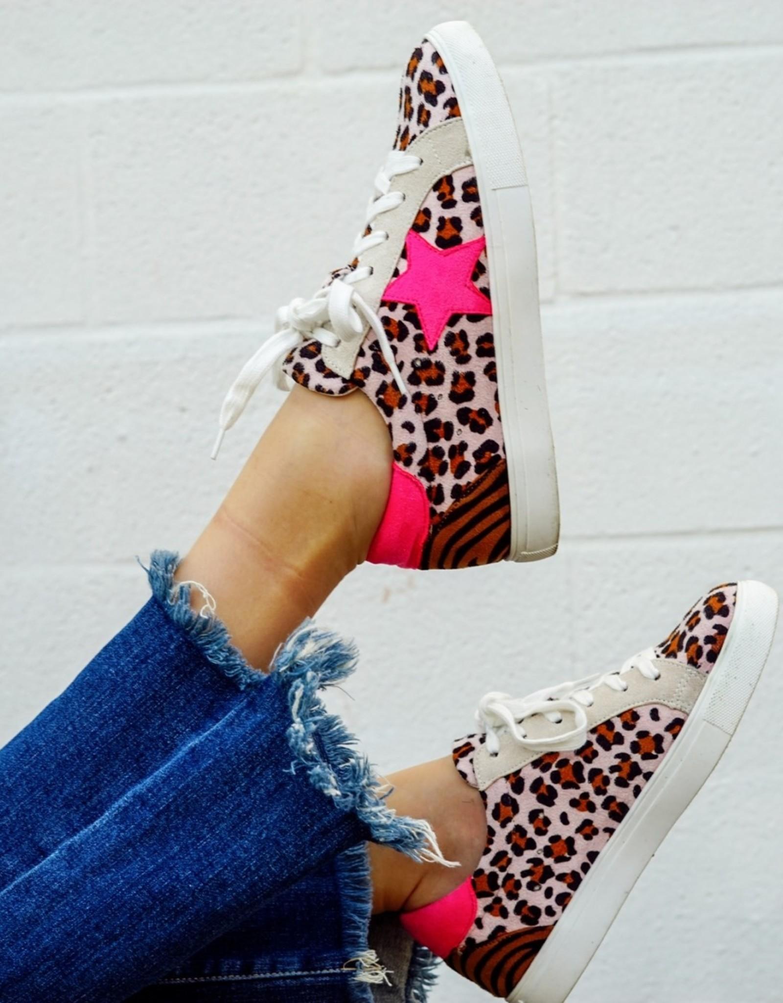 Hot Pink Bold Star Sneaker