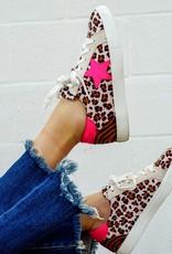 Bold Hot Pink Star Sneaker