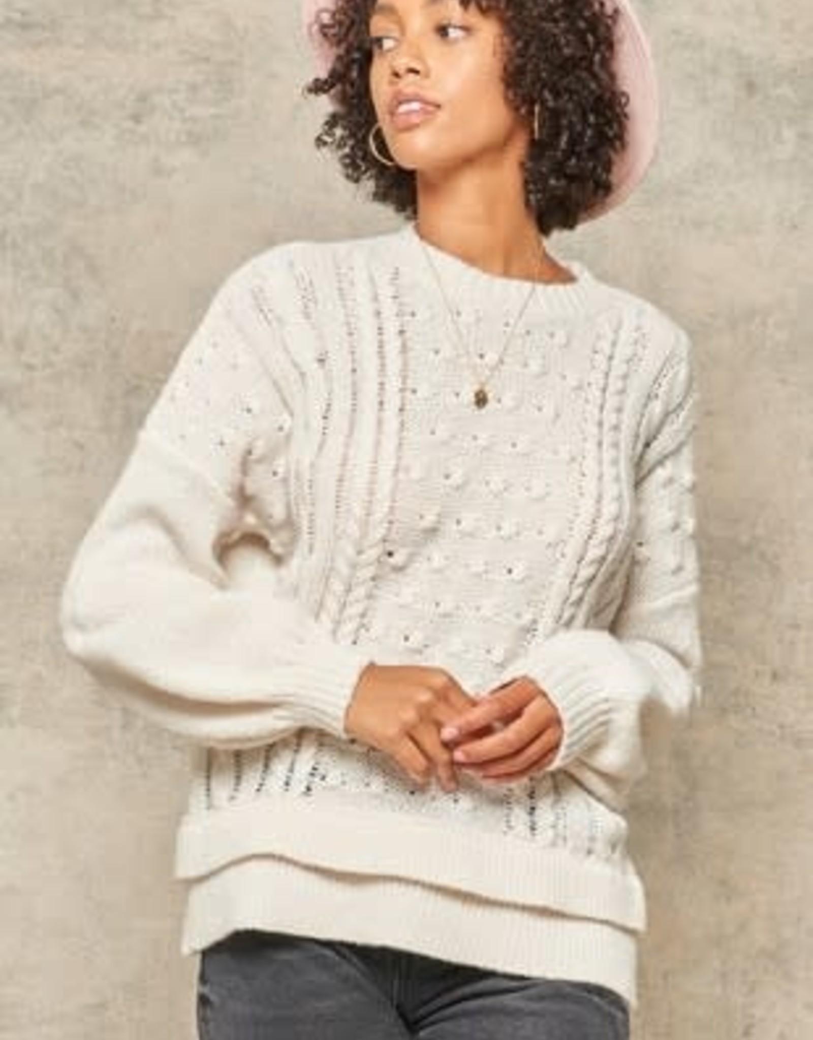 Winter White Cozy Sweater