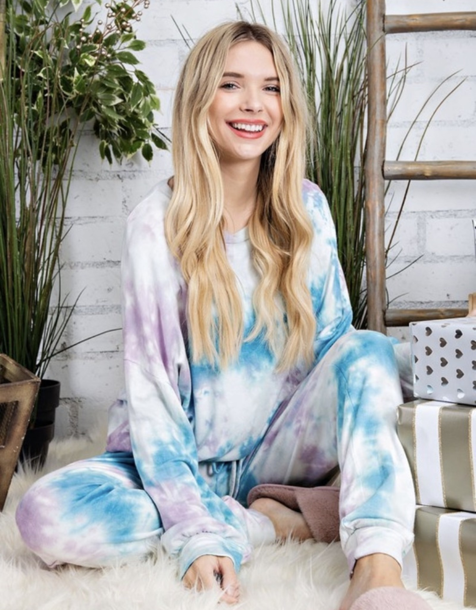 Just Lounging Around Lilac/Teal Jogger