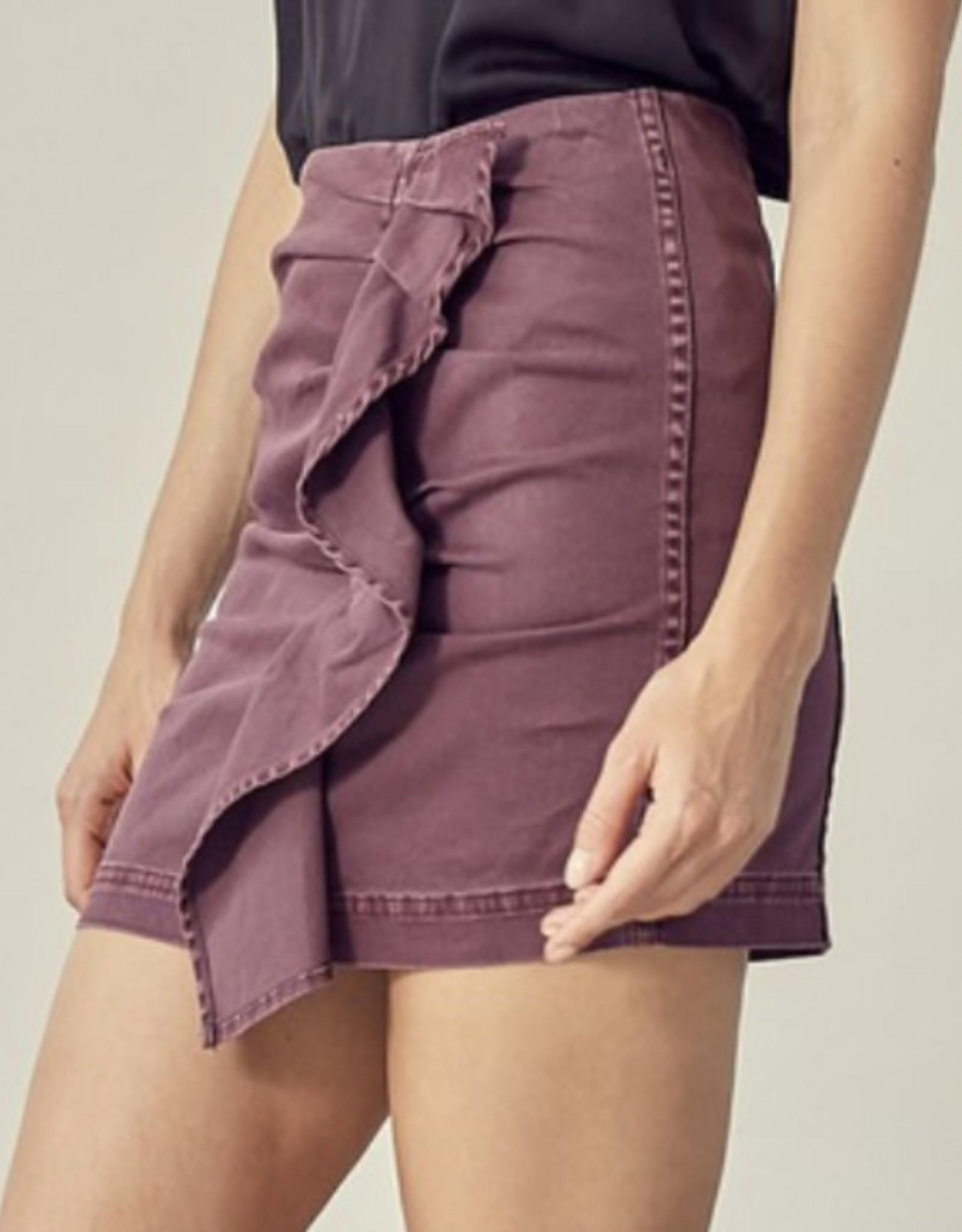 Plum  Cute Denim Mini Skirt