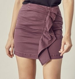 Plum  Cute Denim Mini Skirt