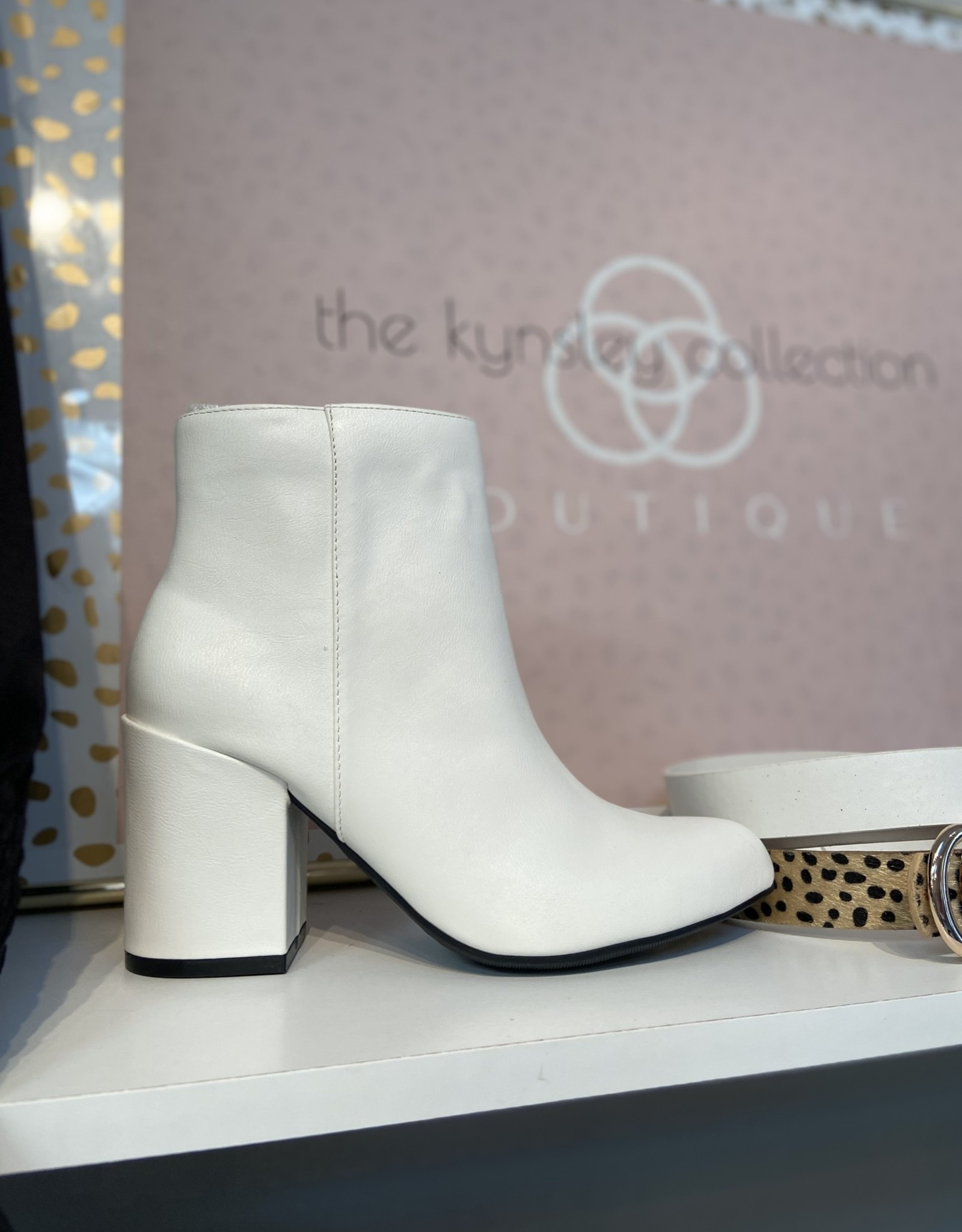 Willow White Booties