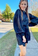 Black Geo Party Dress
