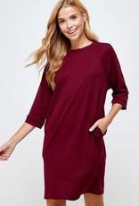 Ragland Pocket Dress Black