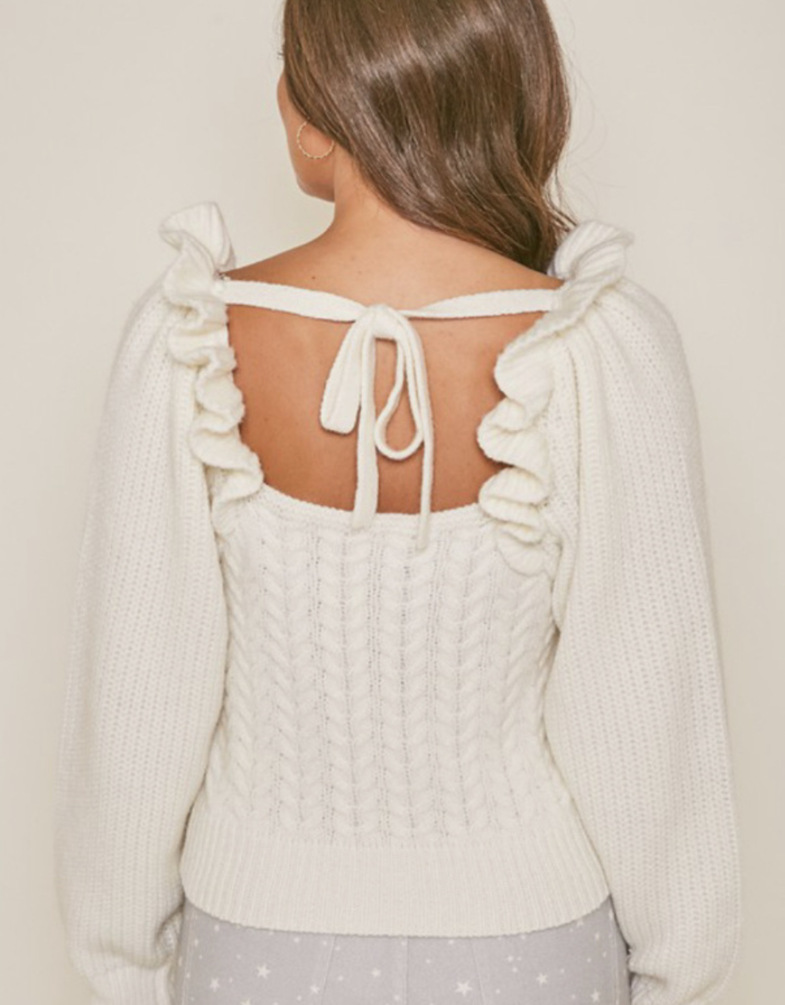 Bowback Julia Ruffled  Sweater