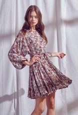 Faith Floral Braided Tie Dress