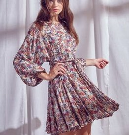 Faith Floral Braided Tie Dress