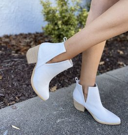 The Lindsay Booties Snake White