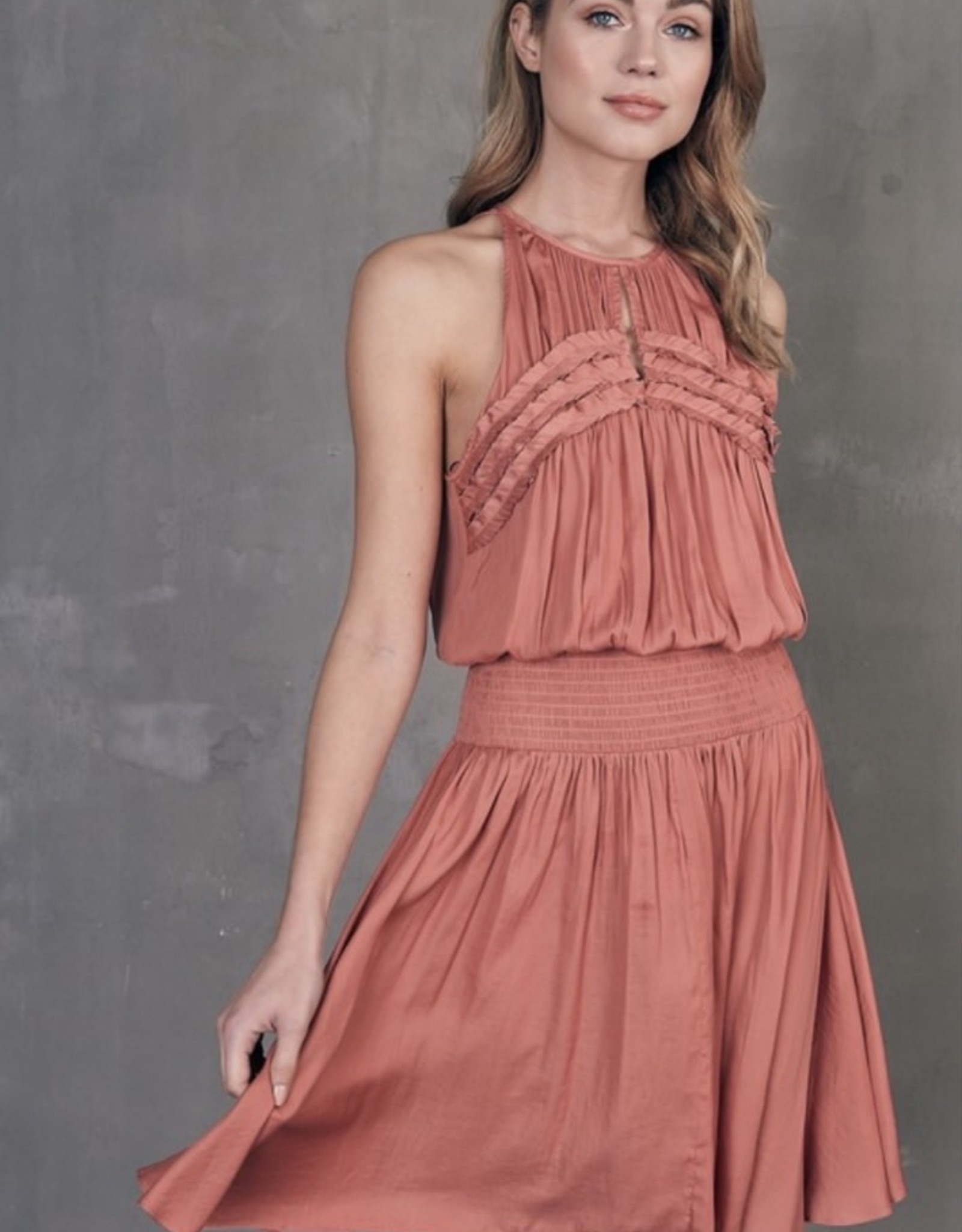 Riley Rust Midi Dress