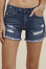 JUST BLACK DENIM Just Black Fray Hem Short