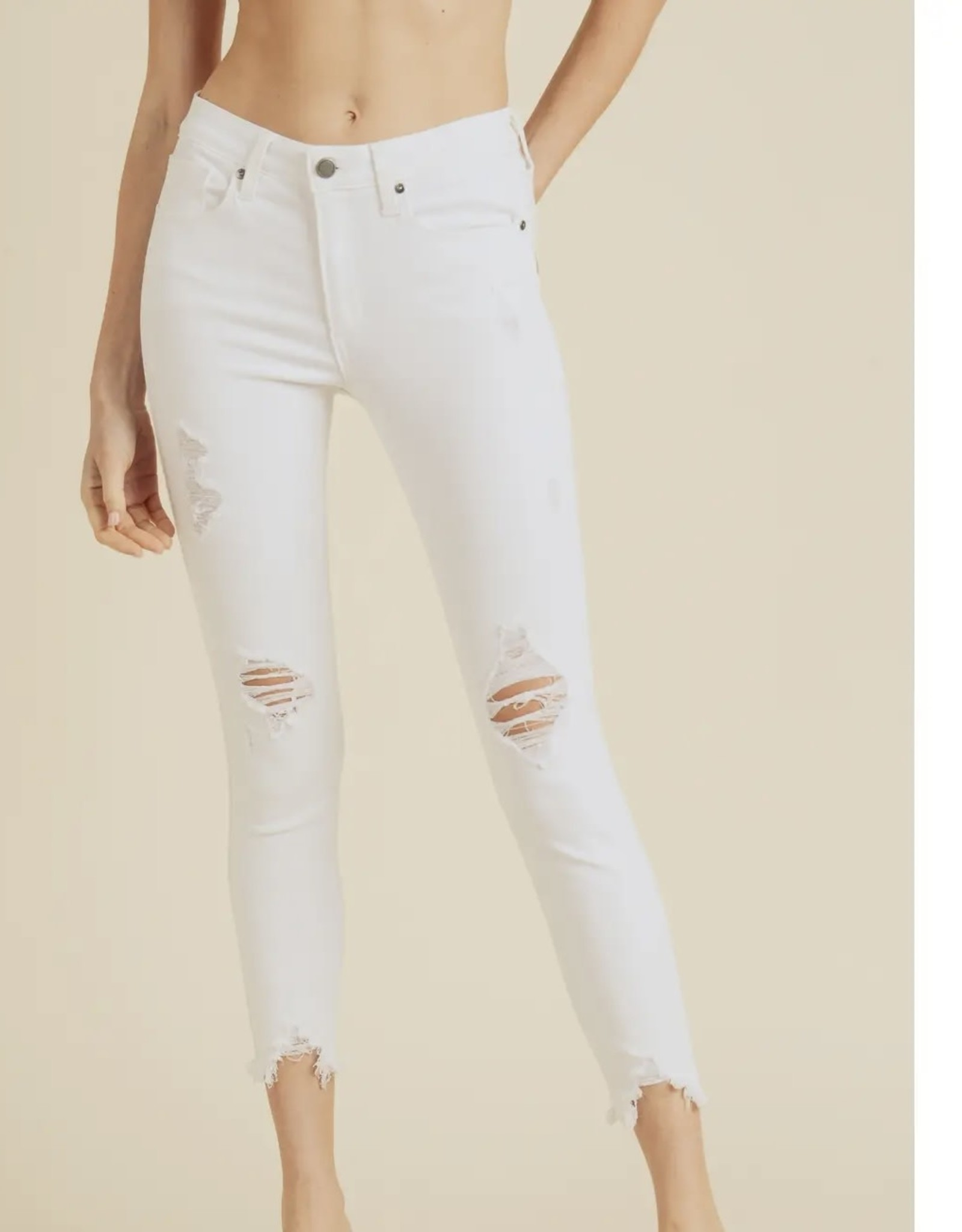 Just Black Denim White Skinny