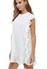 The Favorite Swing Dress (green&white)