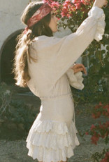 Angel White Ruffle Bell Sleeve Top