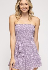 The Misty Lilac Floral Romper
