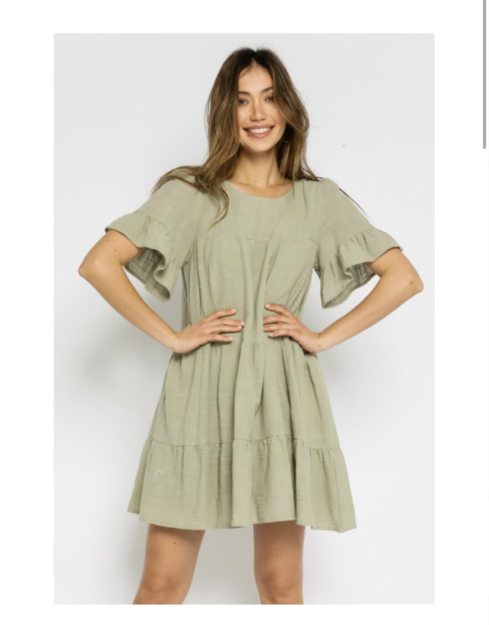 Sage Swing Dress