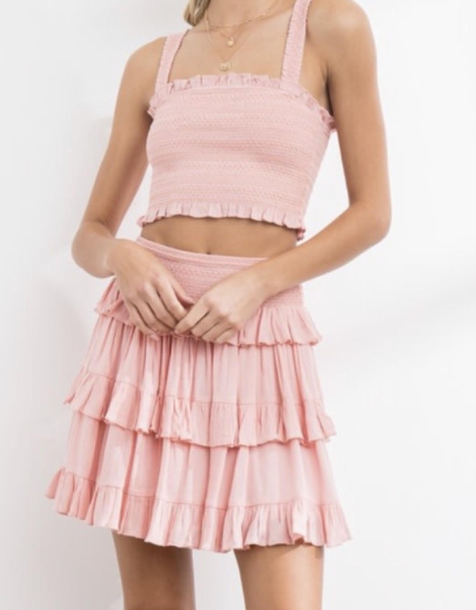 Smocked  Skirt Set