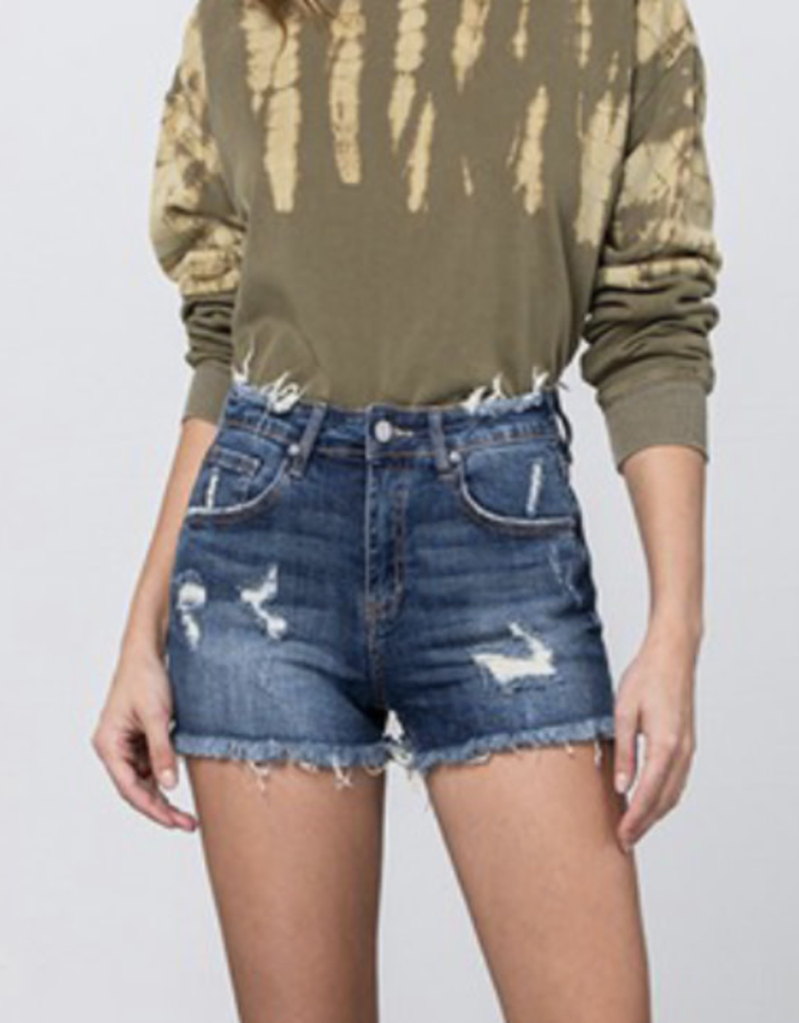 Dark Distressed  Shorts