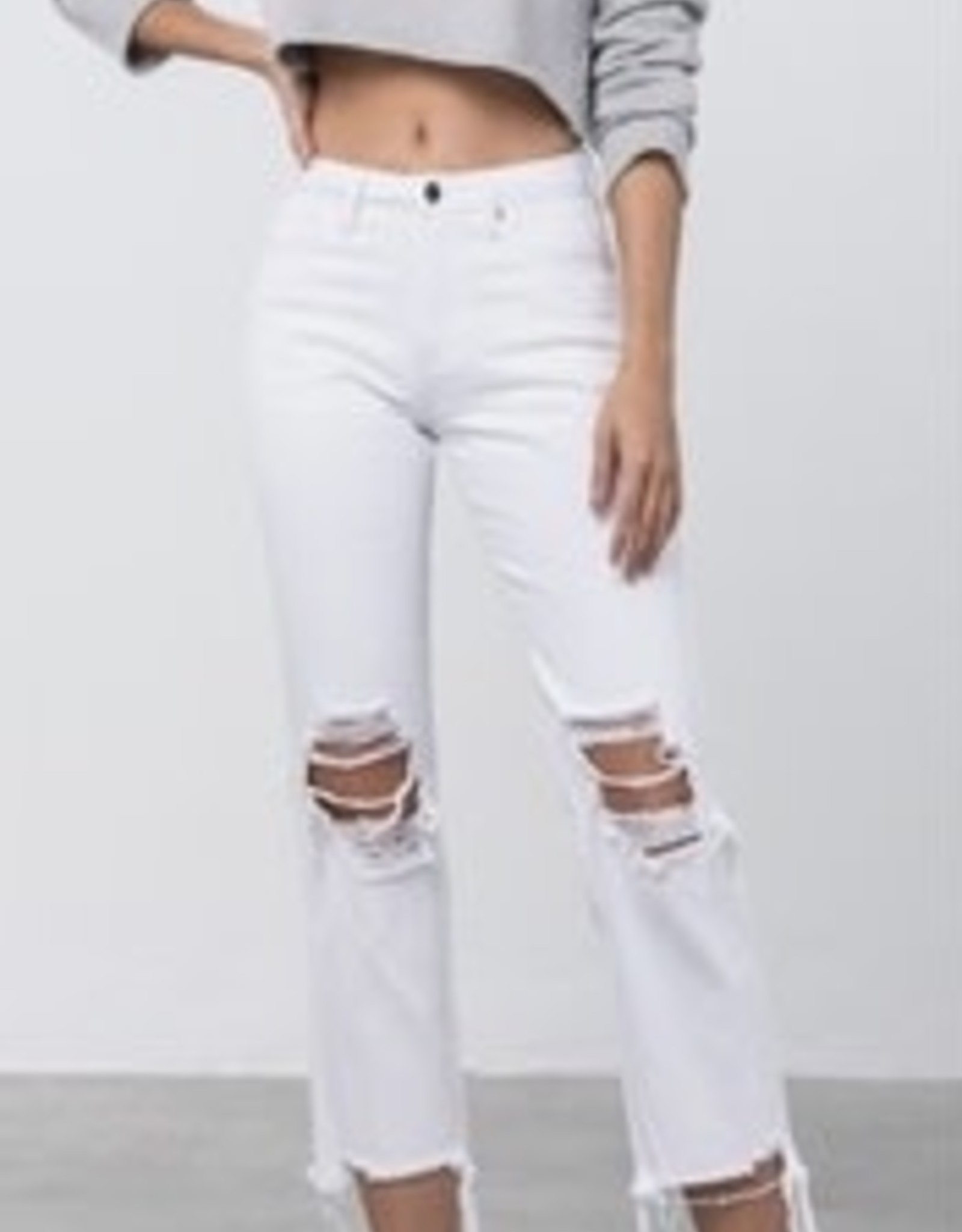 Whitney White High Rise Jeans Cropped