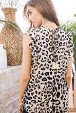Leopard Tassel Top