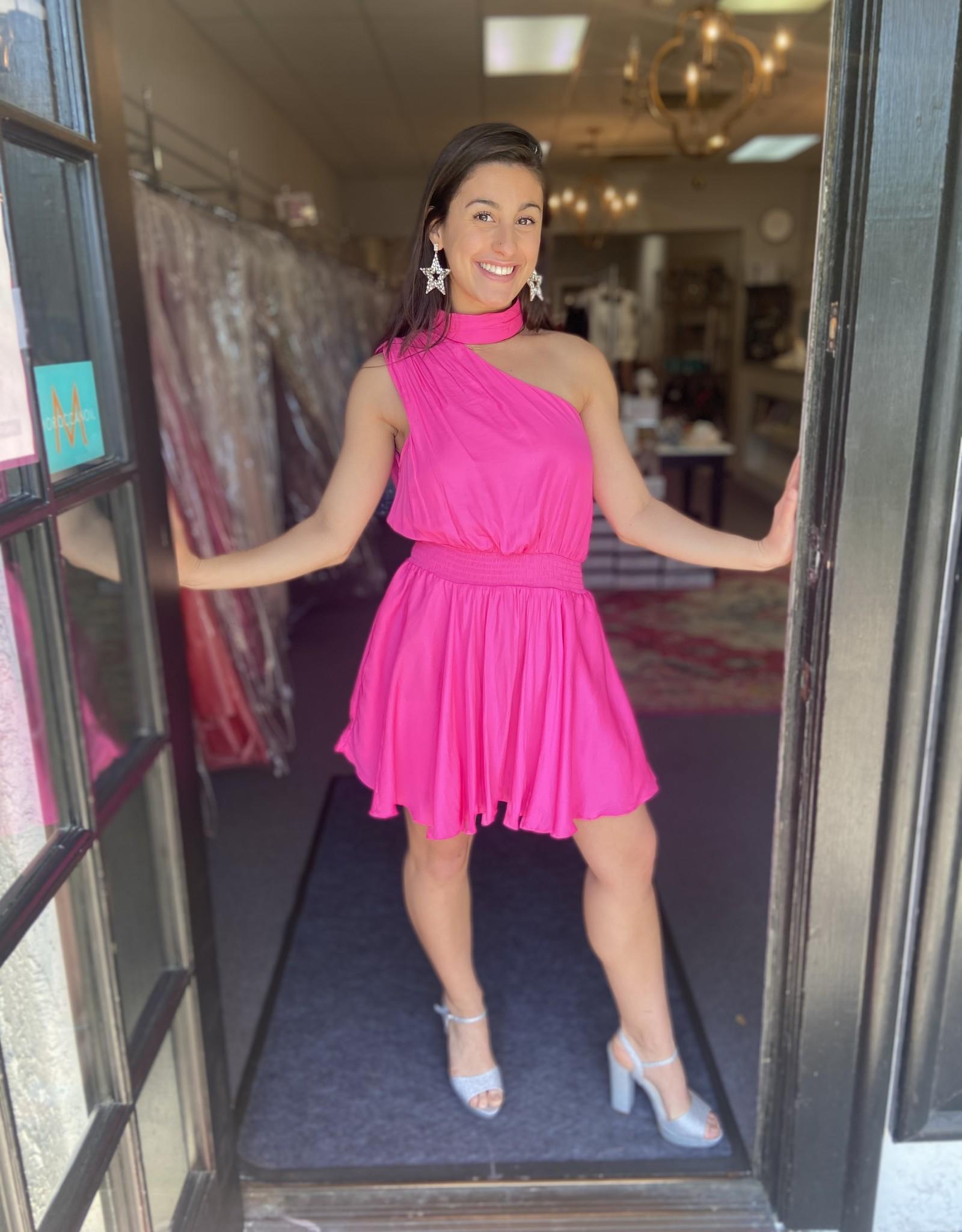 The Logan Dress Hot Pink