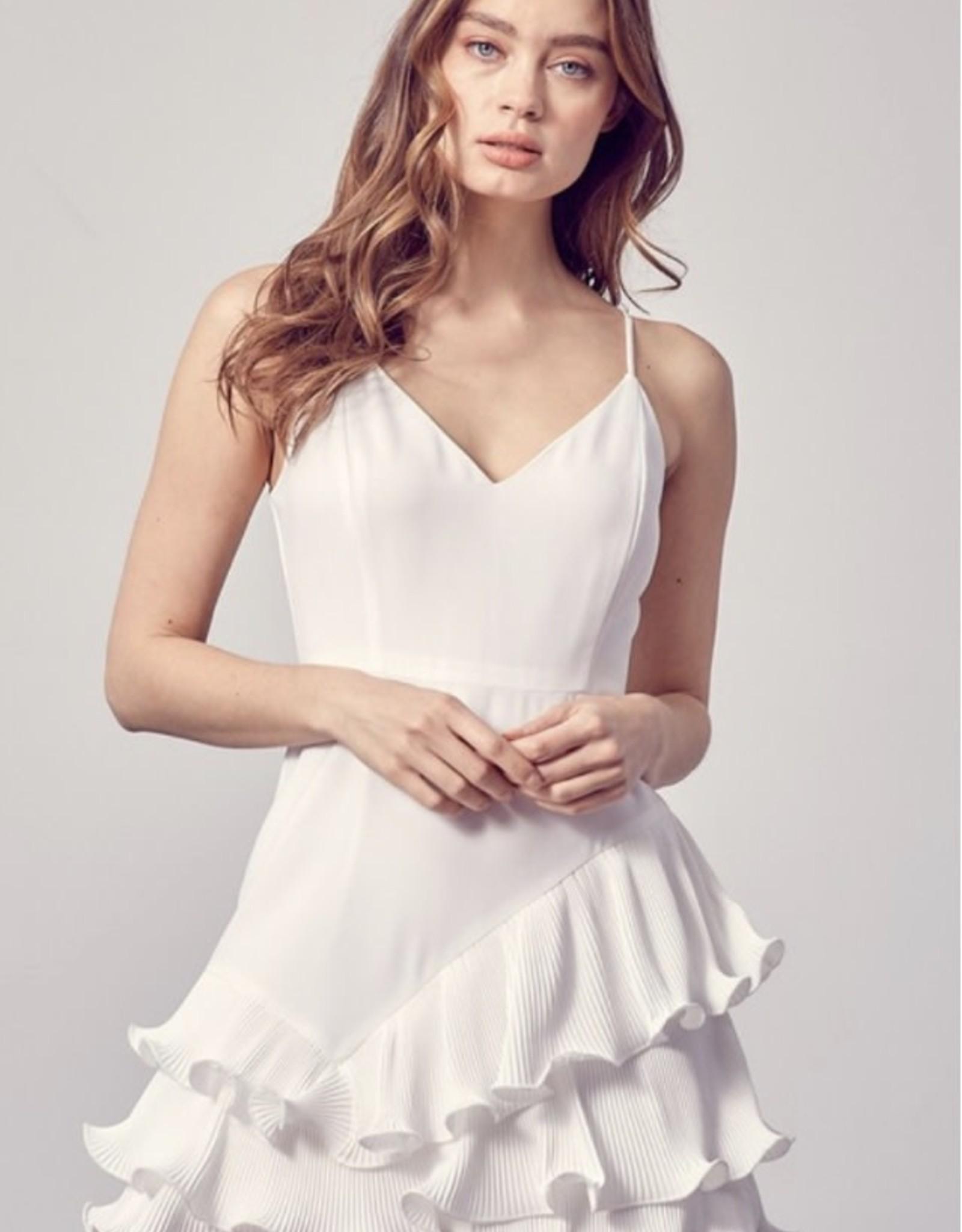 Perfect Pleated Ruffle Dress