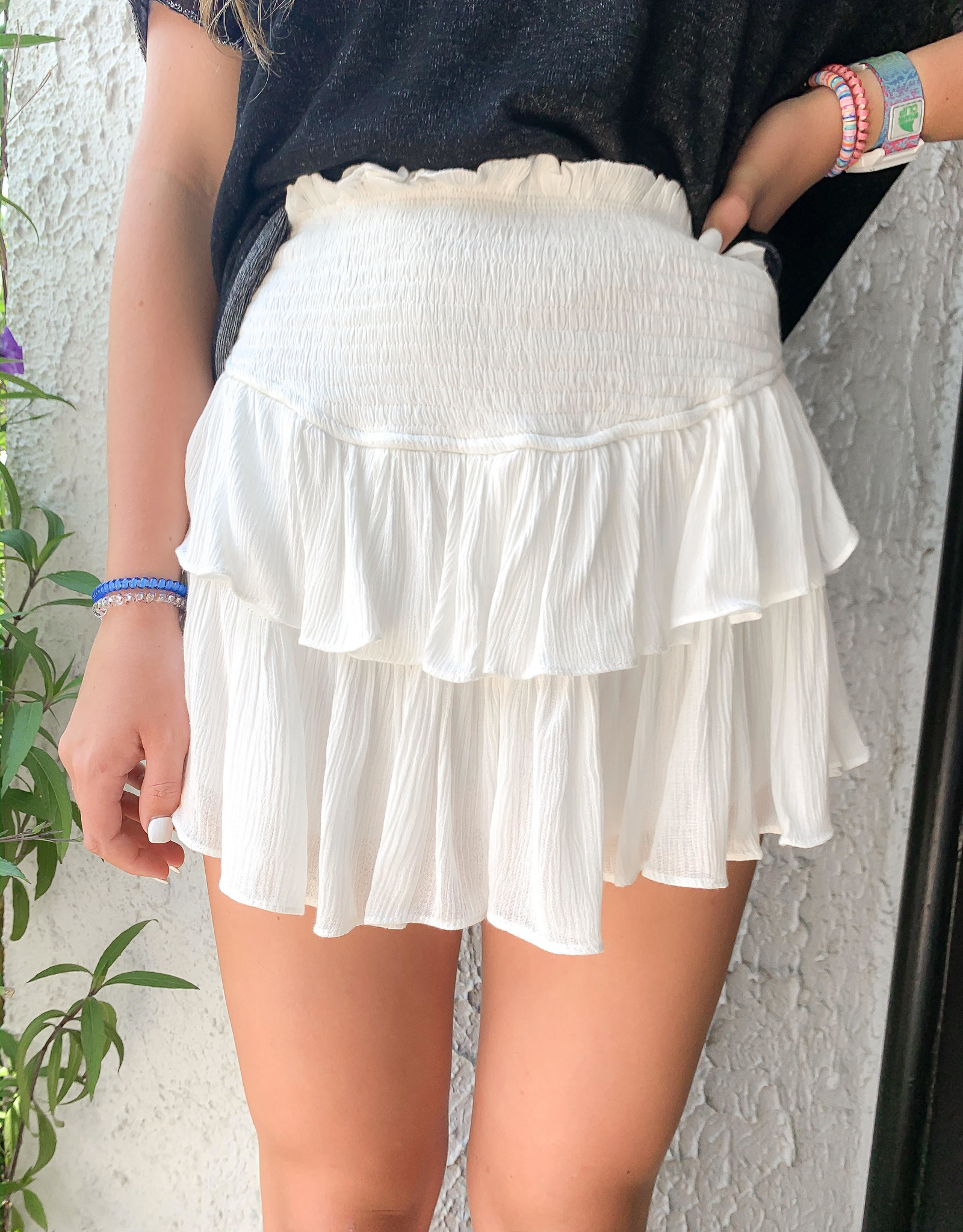 Dusty Ruffle skirt with shorts