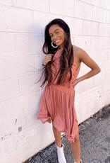 Riley Rust Midi Dress