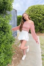 Lauren White Mini Skort