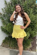 Banana Ruffled Mini Skirt