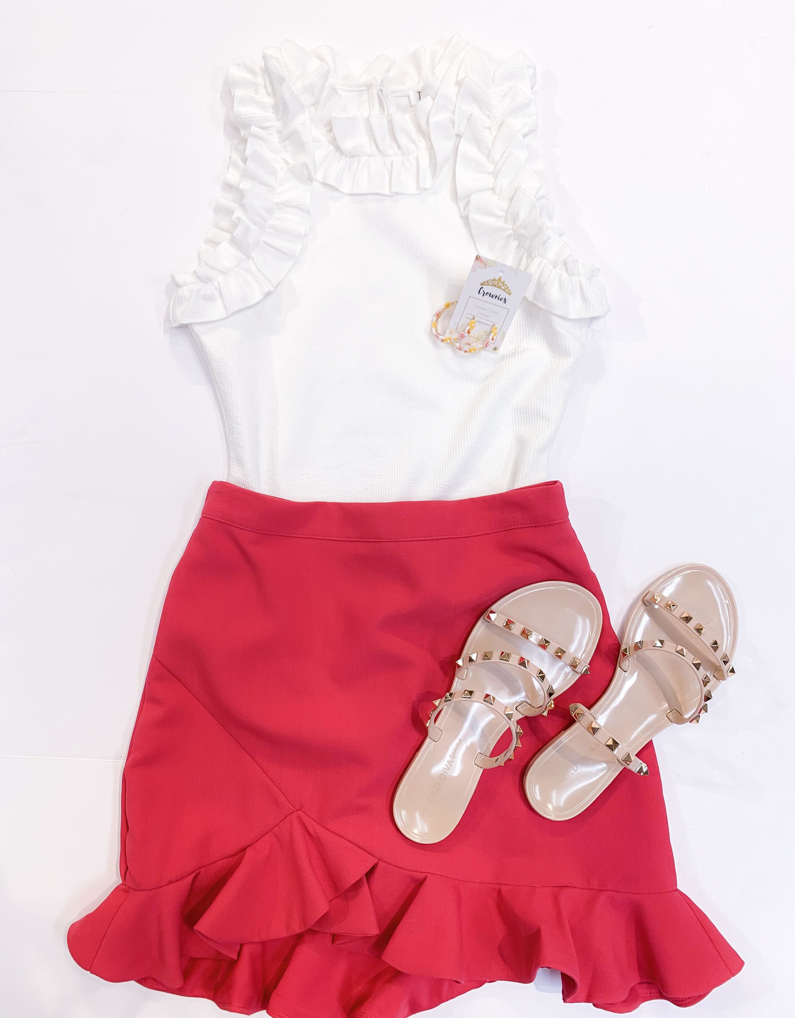 Azalea Pink Ruffle Skirt