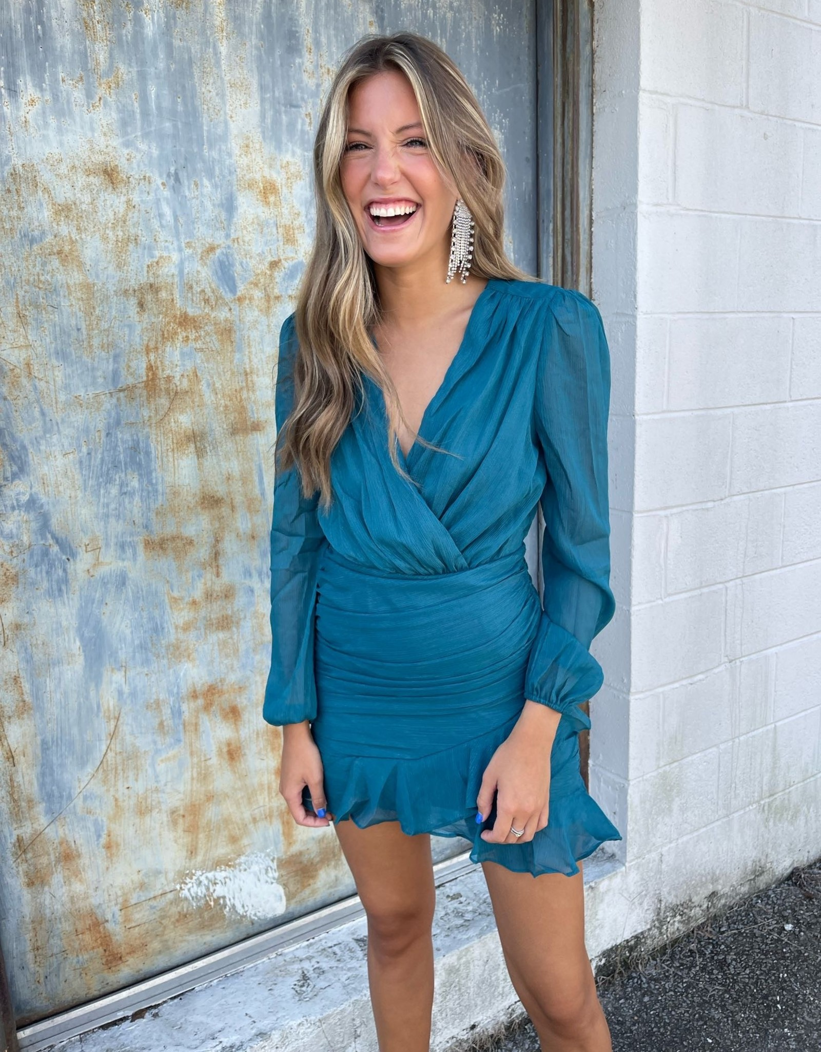Teal Me About it Party Dress