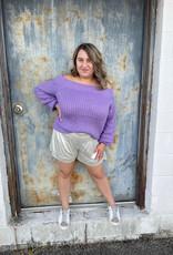 Mustard Seed Perfect Purple Sweater