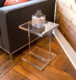 Gus* Modern Acrylic I-Beam Table