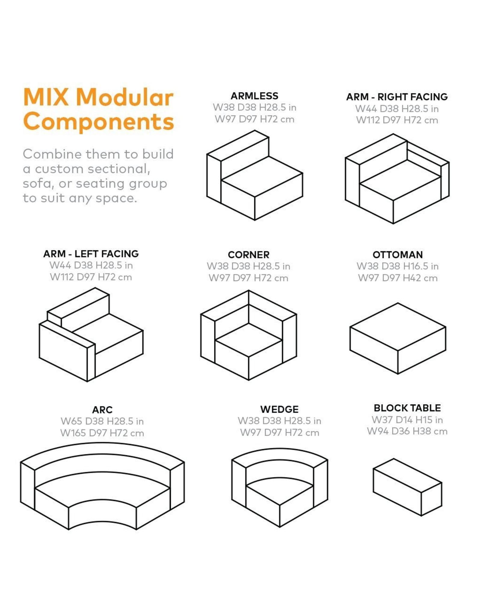 Gus* Modern Mix Modular Sectional, Wedge