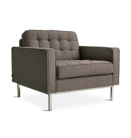 Gus* Modern Spencer Chair, Stainless Steel Base