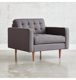 Gus* Modern Spencer Chair, Walnut Base