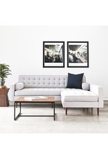 Gus* Modern Spencer Loft Bi-Sectional, Wood Base