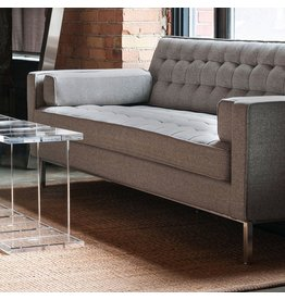 Gus* Modern Spencer Sofa, Stainless Steel Base